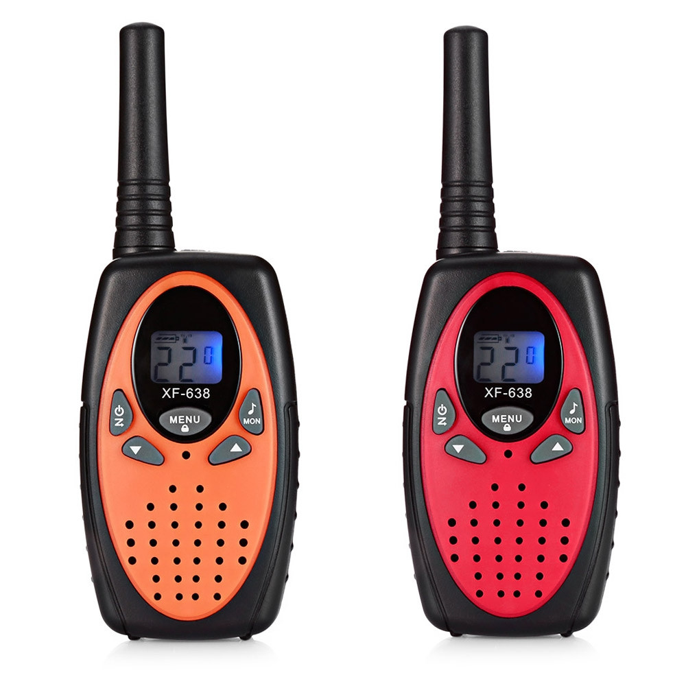 2pcs XF - 638 22 Channel Travel Handheld Walkie Talkie Kids Portable 2 Way Transceiver ORANGE