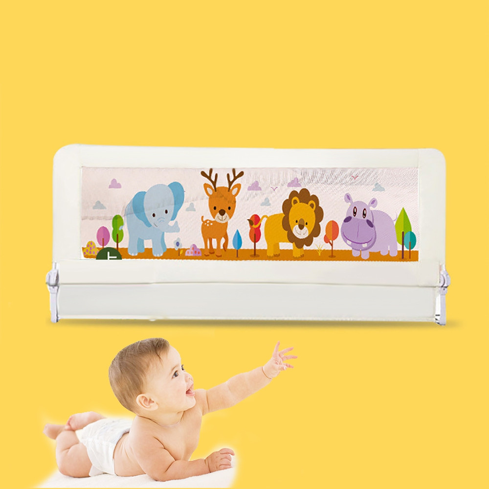 Baby Bed Rails Crib Fence Guardrail OFF-WHITE 1.5M