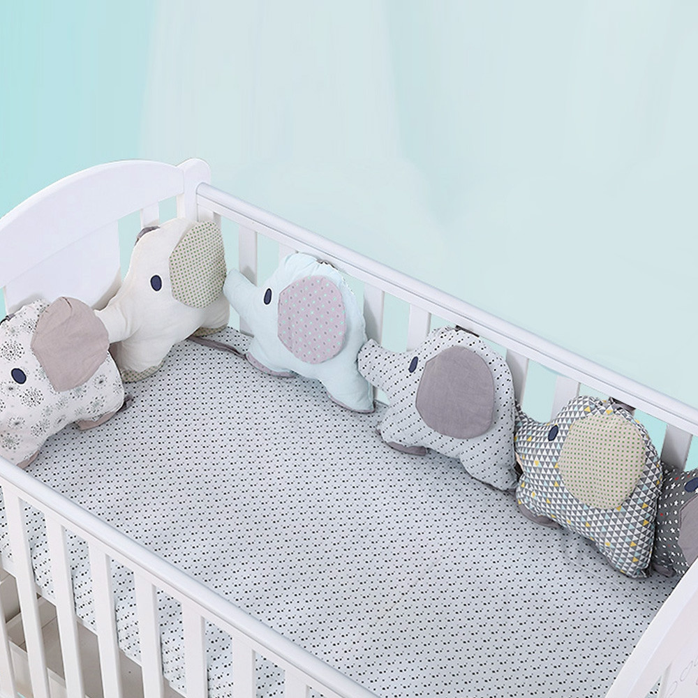 Elephant Baby Bed Bumper Combination Backrest Cushion 6pcs COLORMIX