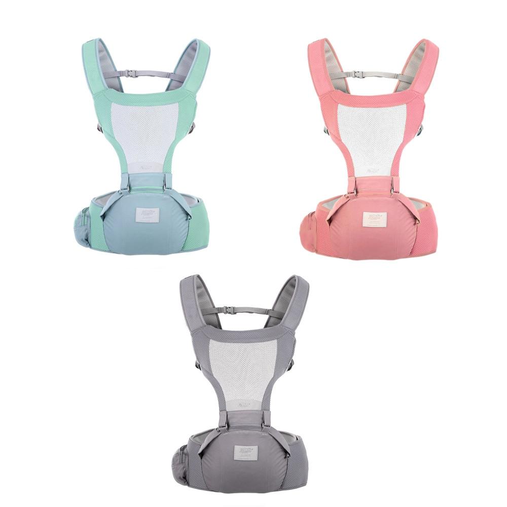 Bethbear 1825 Hip Seat Newborn Waist Stool Baby Carrier Infant Sling Backpack LIGHT SEA GREEN