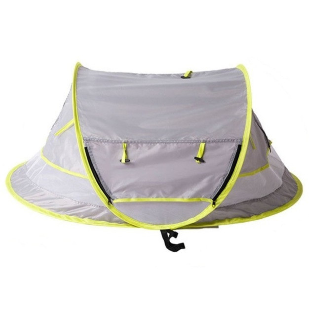Portable Baby Crib Travel Bed Beach Tent with UV Protection GRAY CLOUD