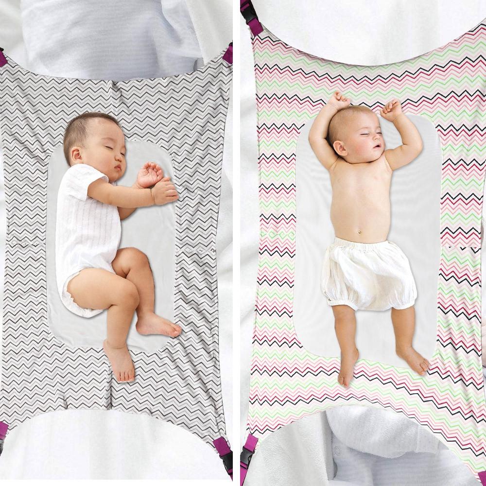 Portable Folding Baby Crib Hammock CADETBLUE