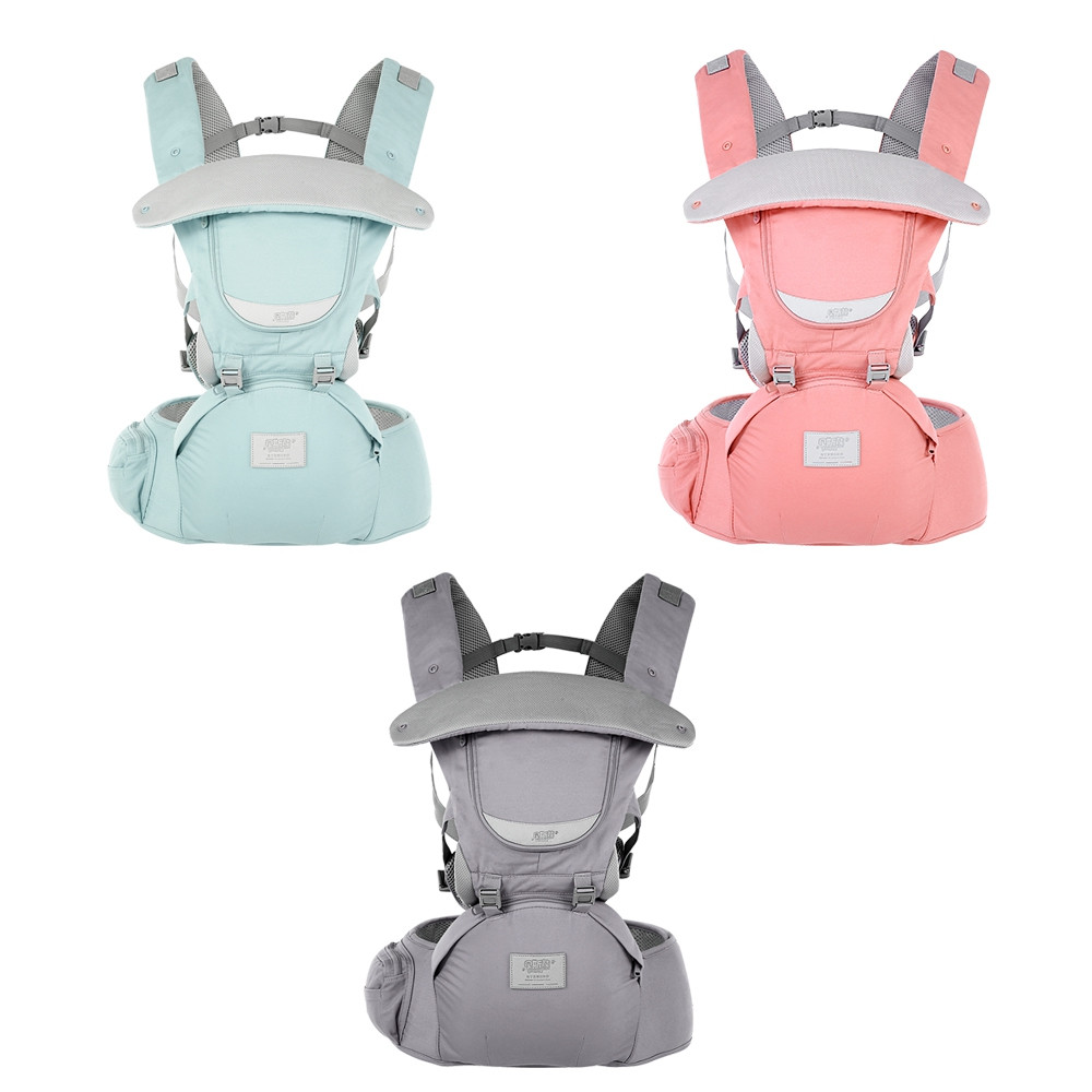 Bethbear 1815 Hip Seat Newborn Waist Stool Baby Carrier Infant Sling Backpack BATTLESHIP GRAY