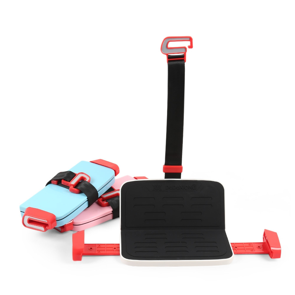 Portable Foldable Children Kids Safety Booster Car Seat Adjustable Strap BLUE IVY