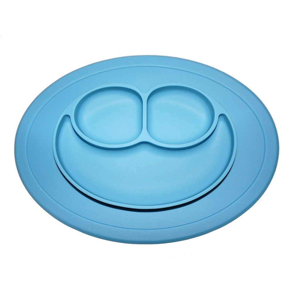 Multipurpose Non-slip Placement Silicone Plate Mold Tray WINDSOR BLUE