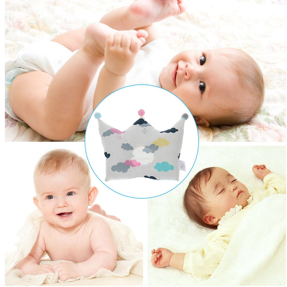 Crown Shape Baby Pillow Infant Sleeping Headrest MULTI-A #1