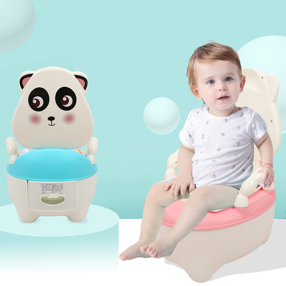 Children Cartoon Potty Toilet Urinal for Male and Female Baby BLUE