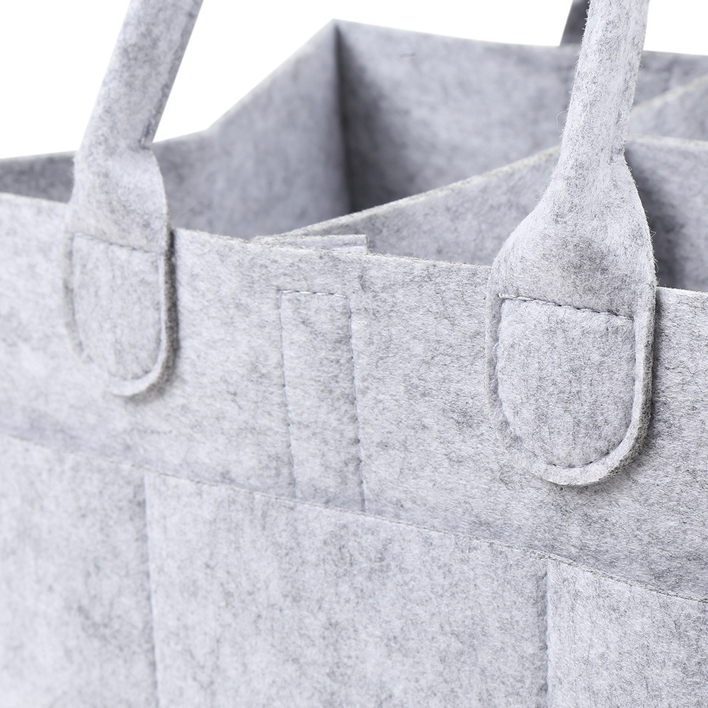 Felt Tote Handbag Baby Diaper Storage Organizer PLATINUM