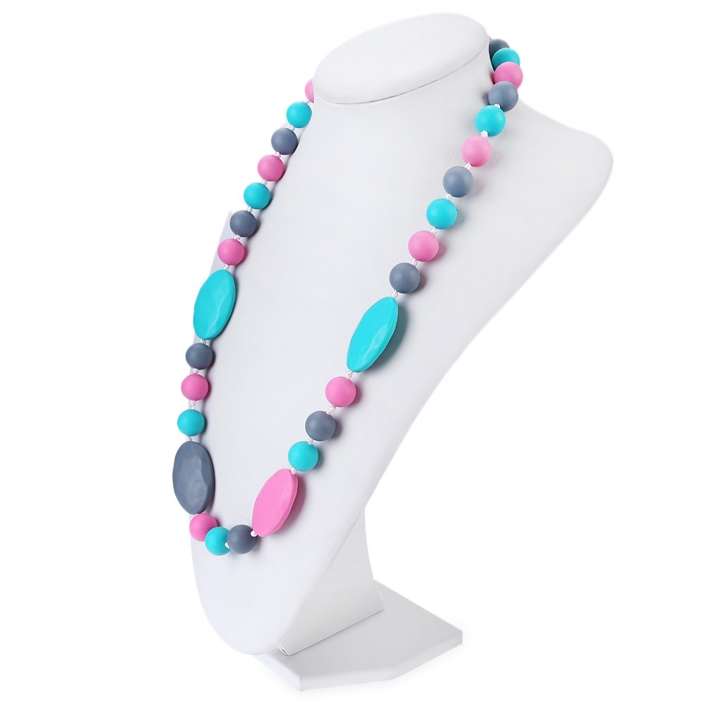 Baby Silicone Teethers Necklace for Training Massage Tooth COLORMIX