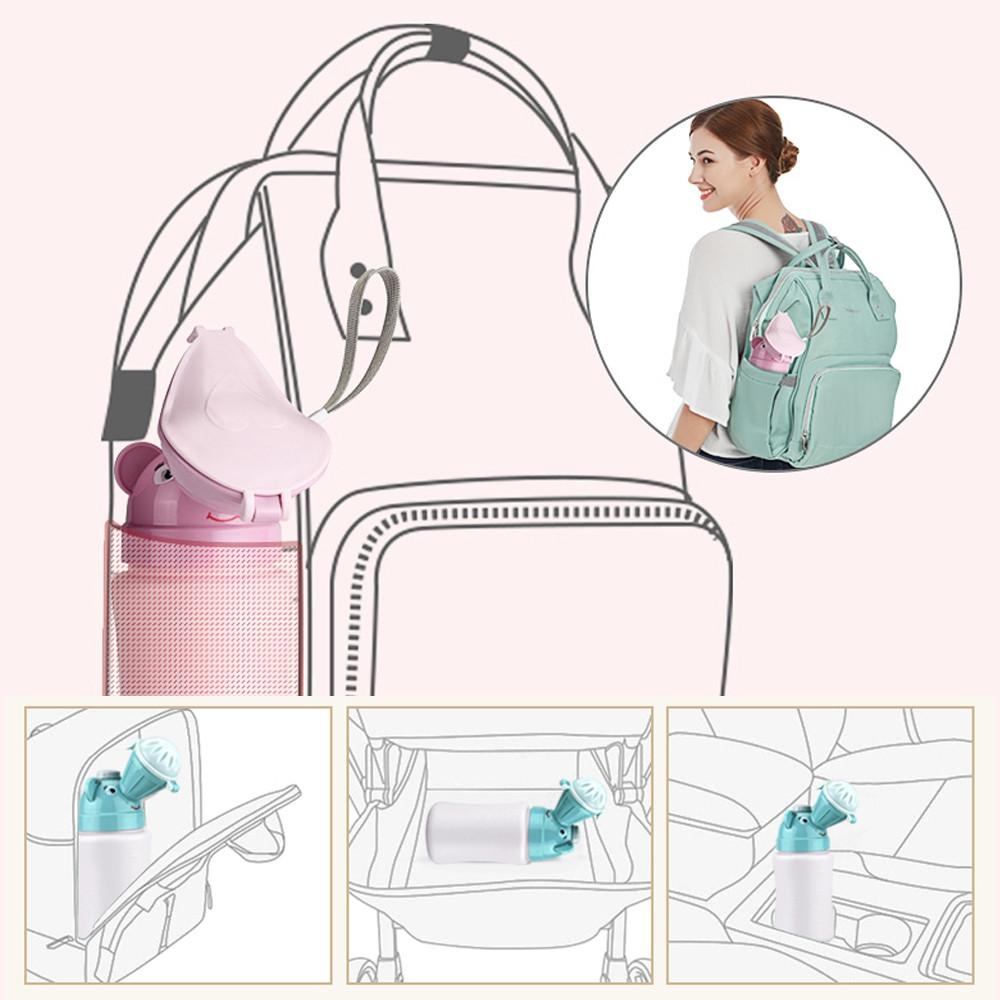 GoryeoBaby Portable Baby Urinal Children Chamber Pot GREEN
