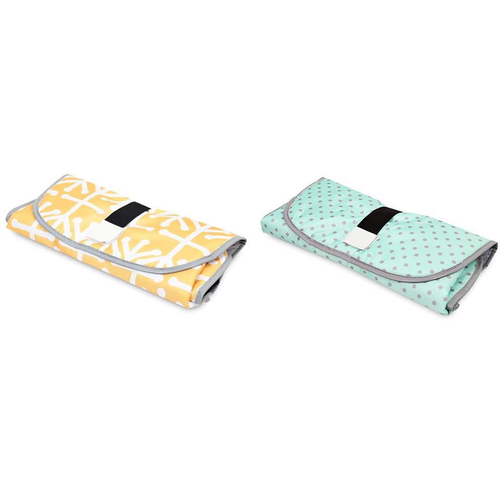 Portable Polyester Baby Diaper Changing Pad Folding Mat CORN YELLOW