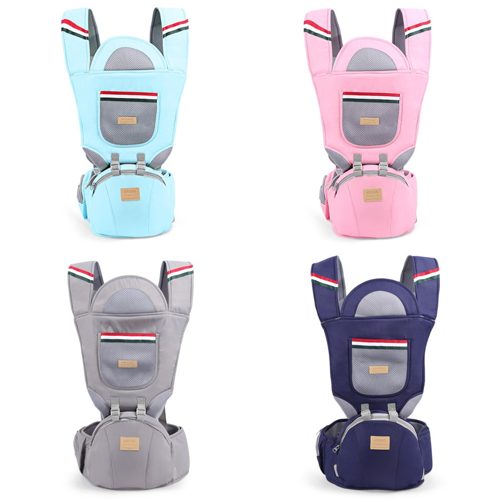 Ainomi Baby Kid Hip Seat Carrier Waist Stool Sling LIGHT GRAY