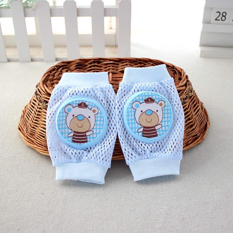 Lovely Breathable Mesh Knee Pad for Children BLUE LITTLE BEAR