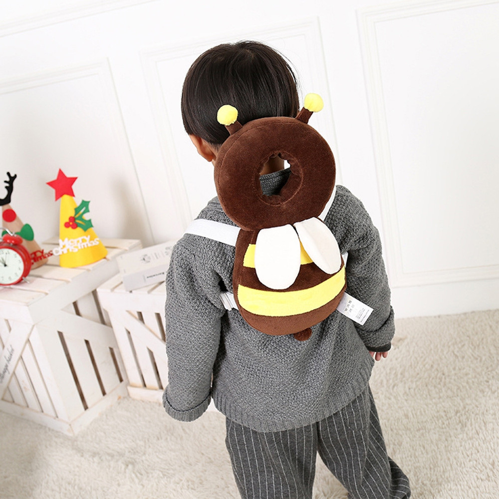 Baby Head Drop Protection Pad Headrest Pillow COFFEE