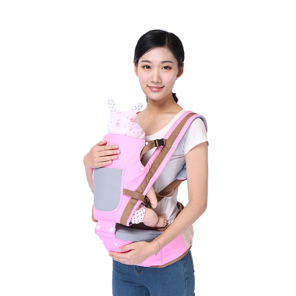 Multifunctional Baby Stool Suspender Carrier PINK