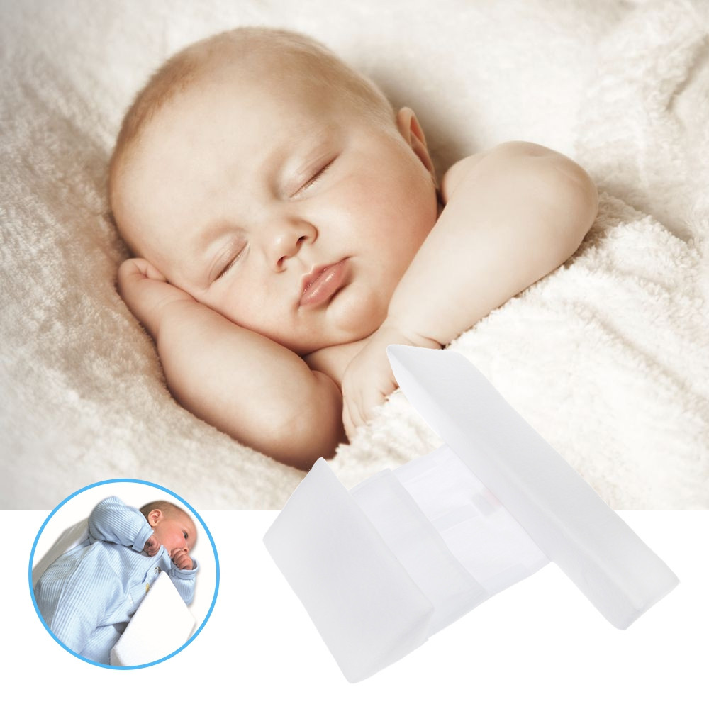 Newborn Baby Infant Sleeping Positioning Correct Pillow WHITE