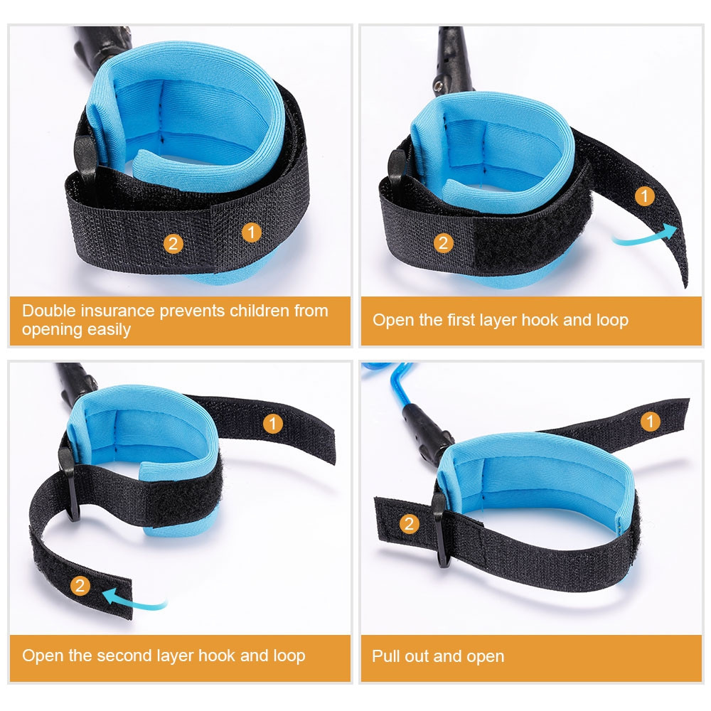 Baby Child Anti Lost Safety Wrist Link Harness Strap Rope Leash Walking Hand Belt Band Wristband for Toddlers BLUE