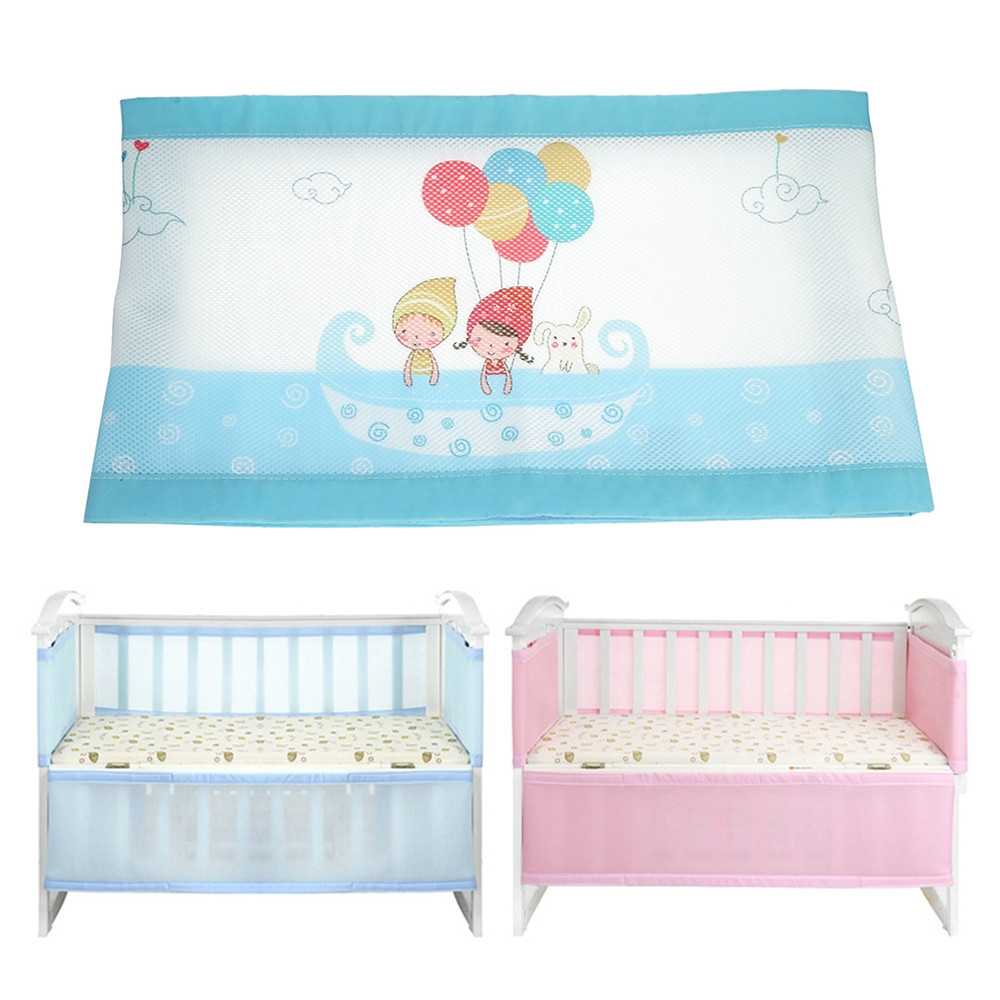 Baby Bed Crib Bumper Breathable Infant Bedding Set BLUE