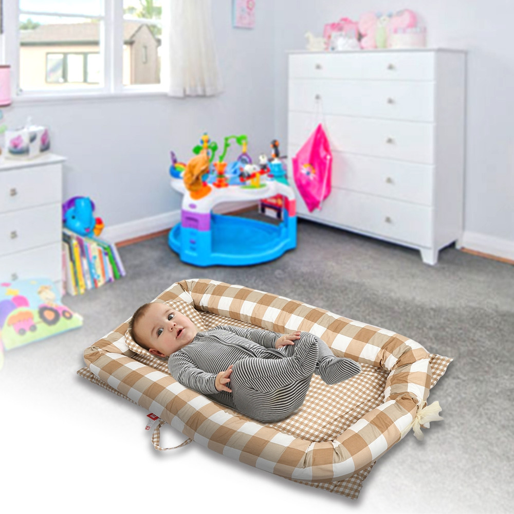 Newborn Baby Crib Foldable Infant Nest Bionic Bed Sleeping Artifact COFFEE