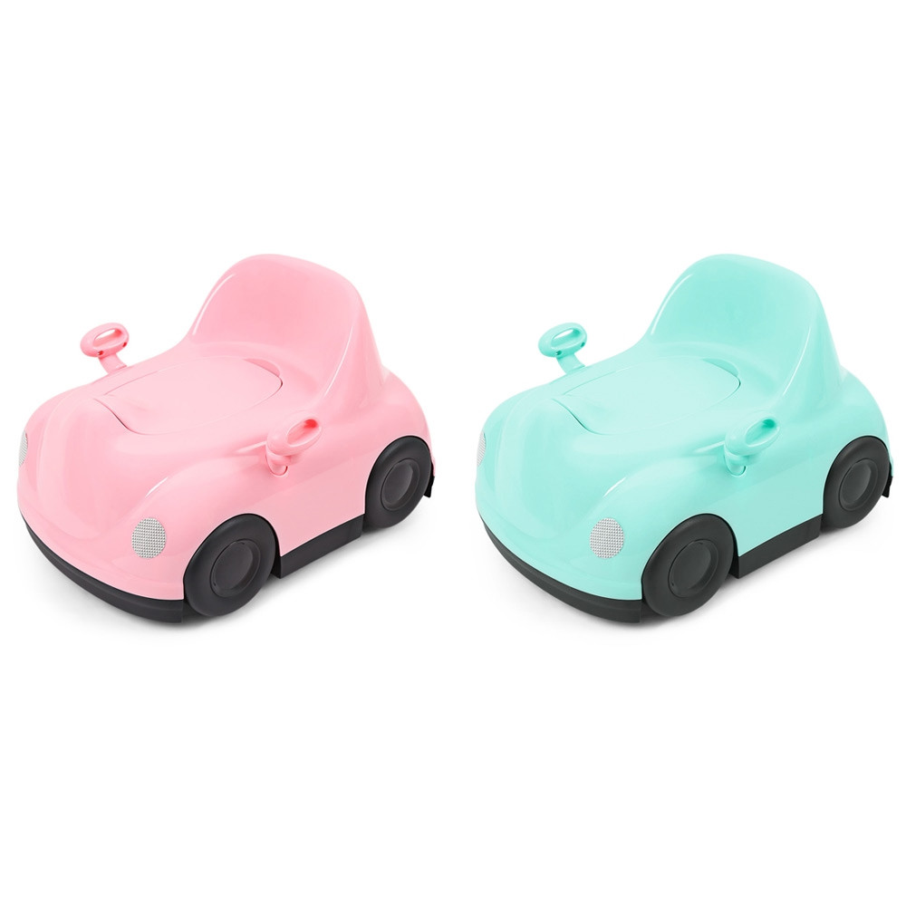 Baby Infant Potty Chair Car Shape Child Toilet Training Seat PINK