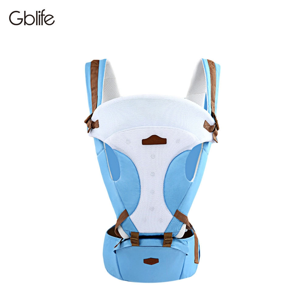 GBlife Comfortable Breathable Carrier Infant Backpack Baby Hip Seat Waist Stool BUTTERFLY BLUE
