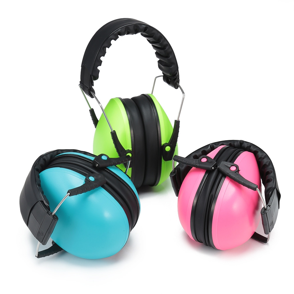 Baby Soundproof Hearing Protection Adjustable Noise Reduction Earmuffs YELLOW GREEN