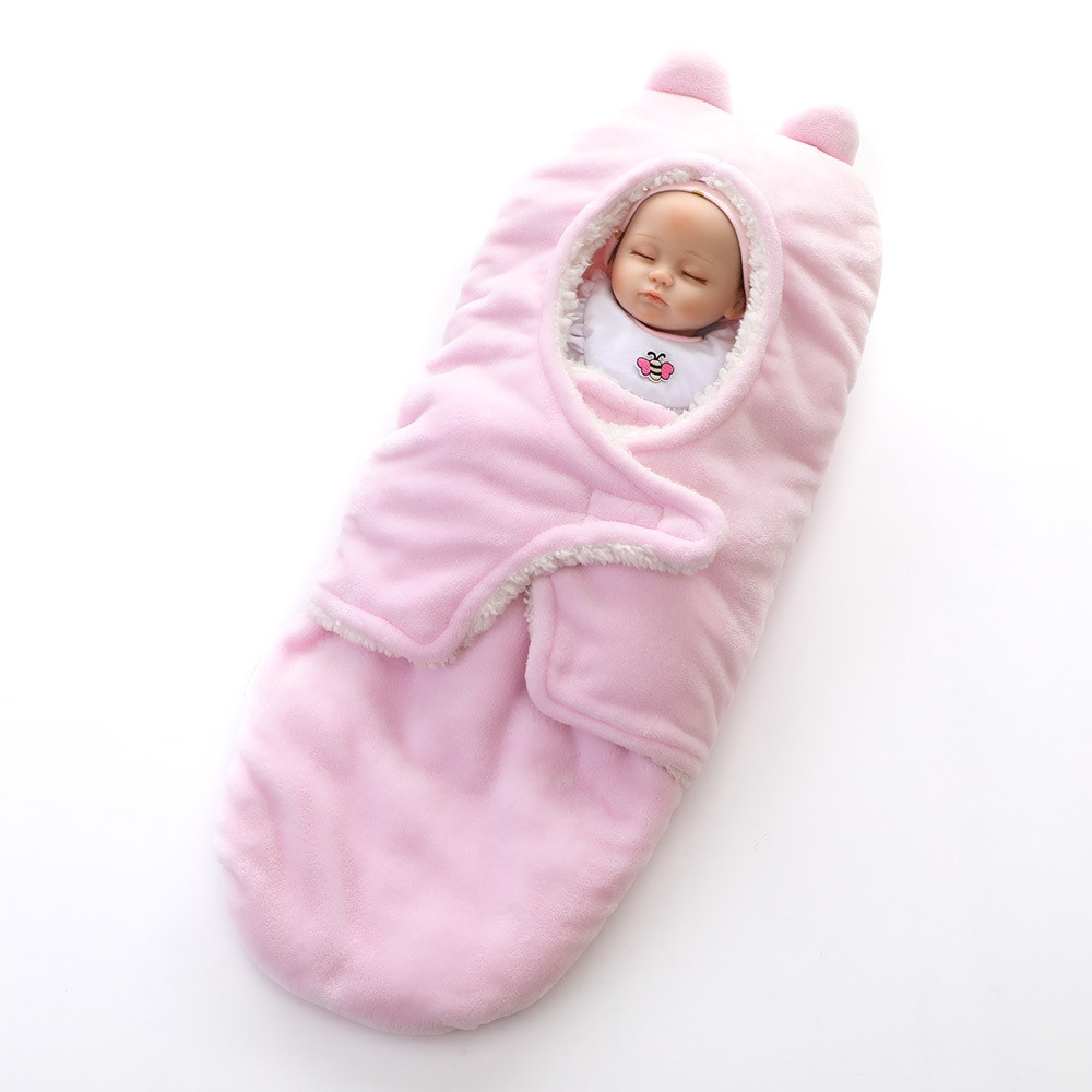 Baby Swaddling Soft Comfortable Warm Baby Blanket PINK FREE