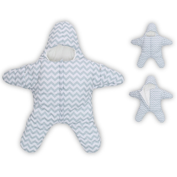 Baby Lovely Small Starfish Sleeping Bag CLOUDY