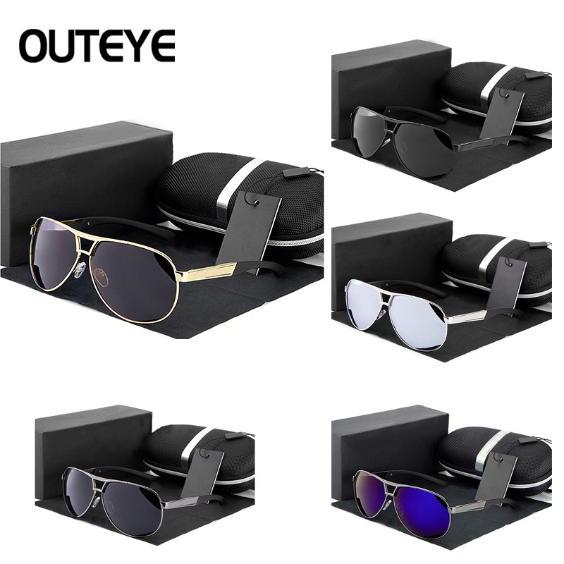 COOL Unisex Mens Womens Metal Frame Classic Sunglasses Vintage Retro Mirrored BLACK GREY RANDOM SIZE