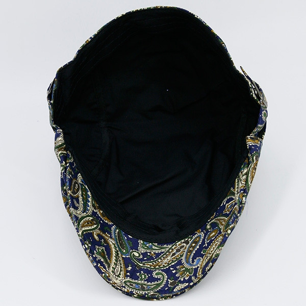 Paisley Vintage Pattern Newsboy Hat COLORFUL