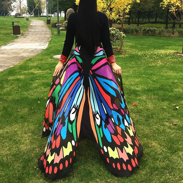 Butterfly Wing Cape Scarf COLORFUL