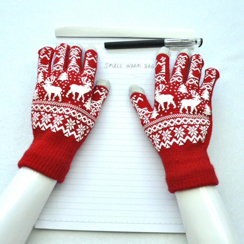 Winter Warm and Velvet Christmas Gloves VALENTINE RED