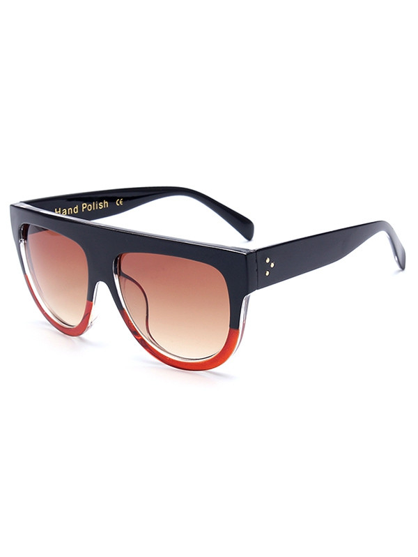 Stylish Simple Two Color Match Sunglasses RED
