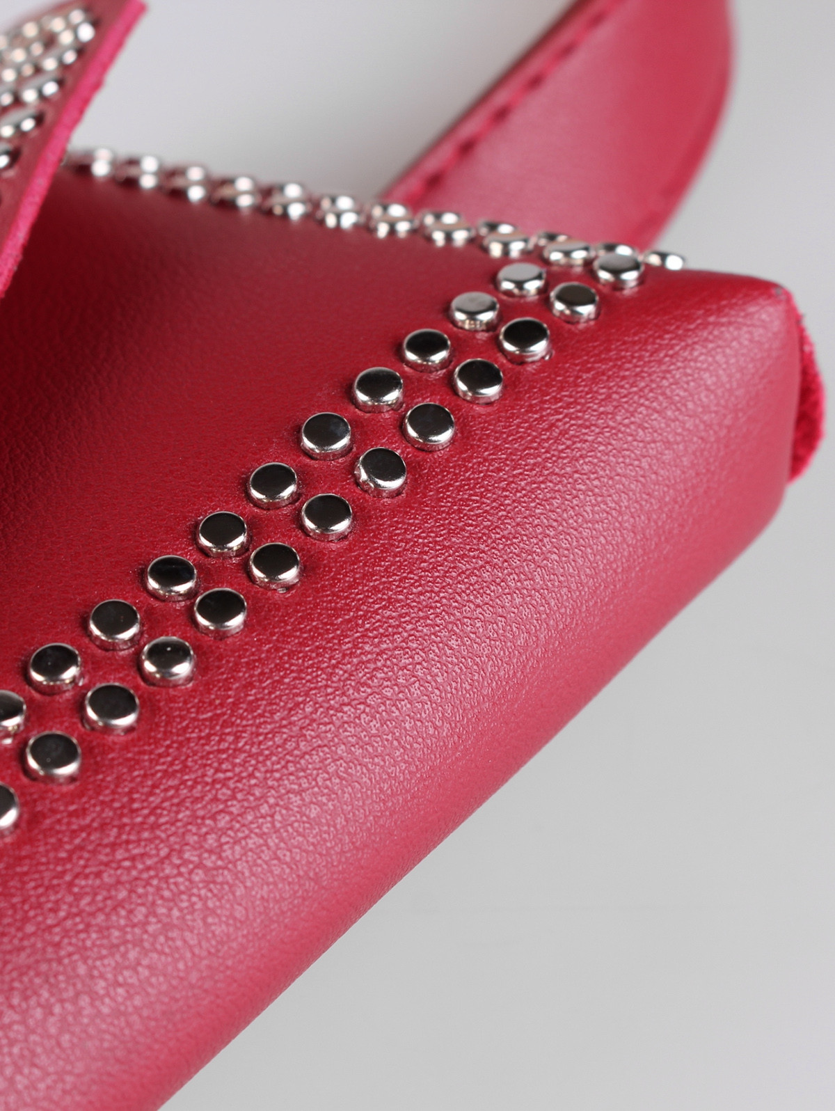 Rivet Funny Bag Decorative Faux Leather Belt Bag CHILLI PEPPER