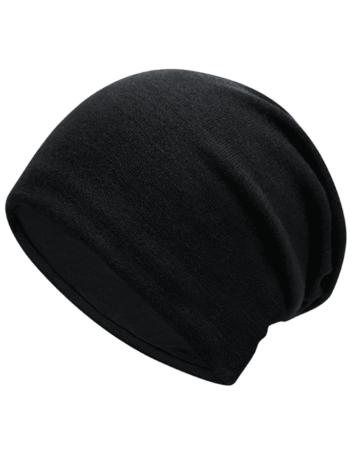Fashion Knit Hat for Autumn and Winter BLACK