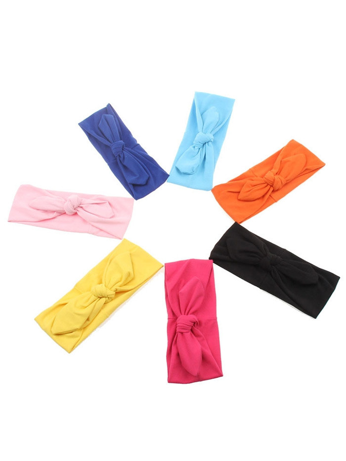 Multiuse Colored Bows Elastic Hair Band PINK