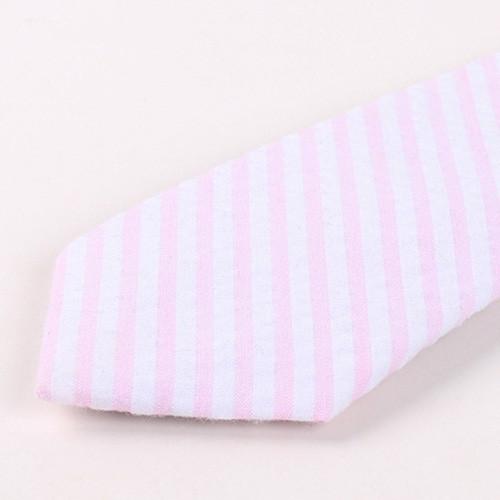 Stripe Print 6.5cm Widt Tie PINK