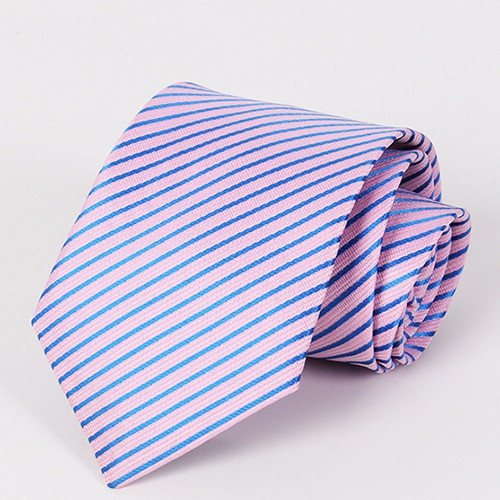 Stylish Twill Pattern Professional Style Pink Tie For Men PINK