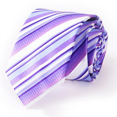 Stylish Various Twill Pattern 7CM Width Tie For Men VIOLET ROSE