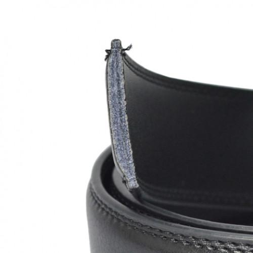 Stylish Polka Dot Shape Alloy Embellished Faux Leather Belt For Men BLACK