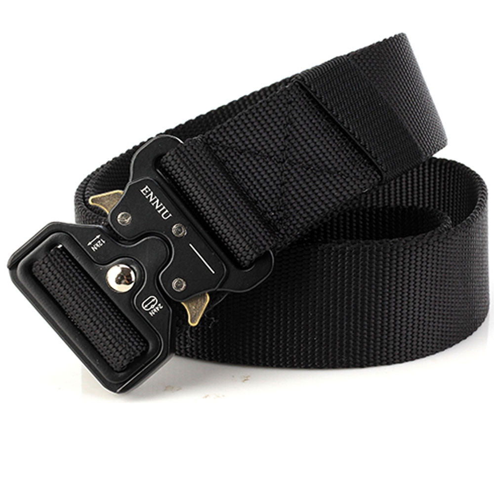 ENNIU Multi-Function Quick-release Military Style Shooters Nylon Tactical Belt with Metal Buckle BLACK