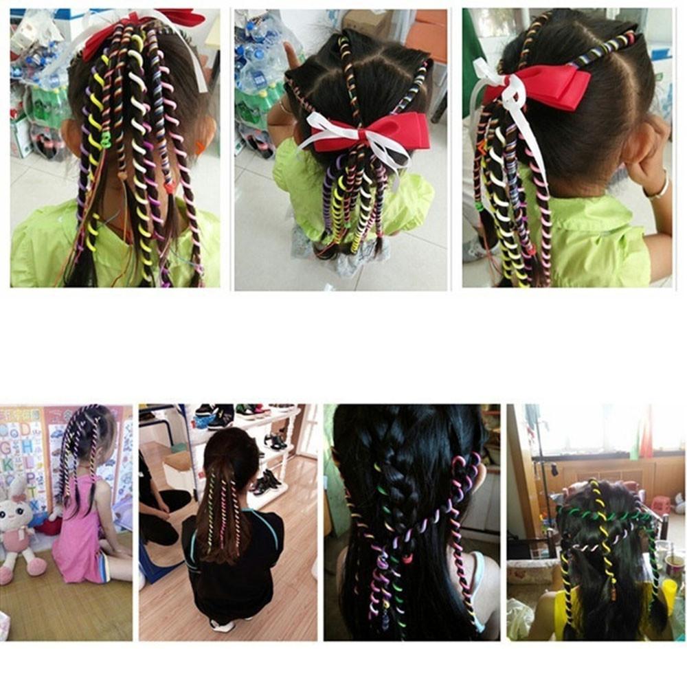 Kids Curler Hair Braid Hair Sticker Baby Girls' Decor Hair Accesories COLORFUL
