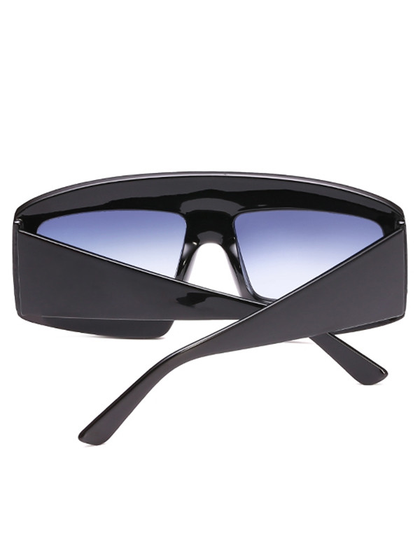 Anti Fatigue Flat Lens Oversized Sunglasses  BATTLESHIP GRAY