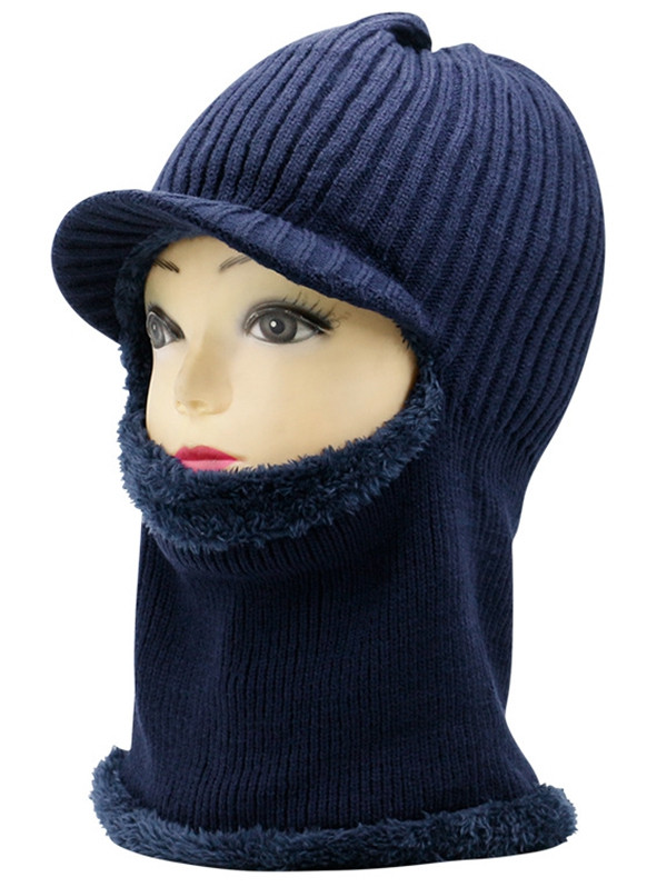 Outdoor Open Face Knitted Ski Mask Hat CADETBLUE