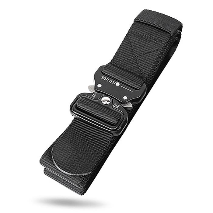 ENNIU Men Outdoor Training Belt with Buckle BLACK