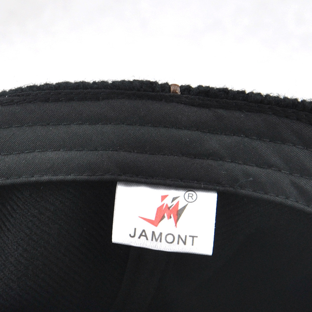 JAMONT Men Casual Ancient England Knit Autumn and Winter Thick Warm Beret BLACK
