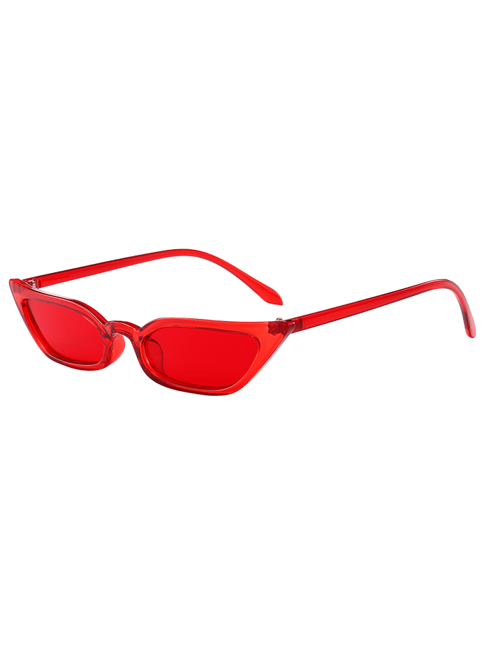 Animal Print Narrow Lens Stylish Sunglasses RED