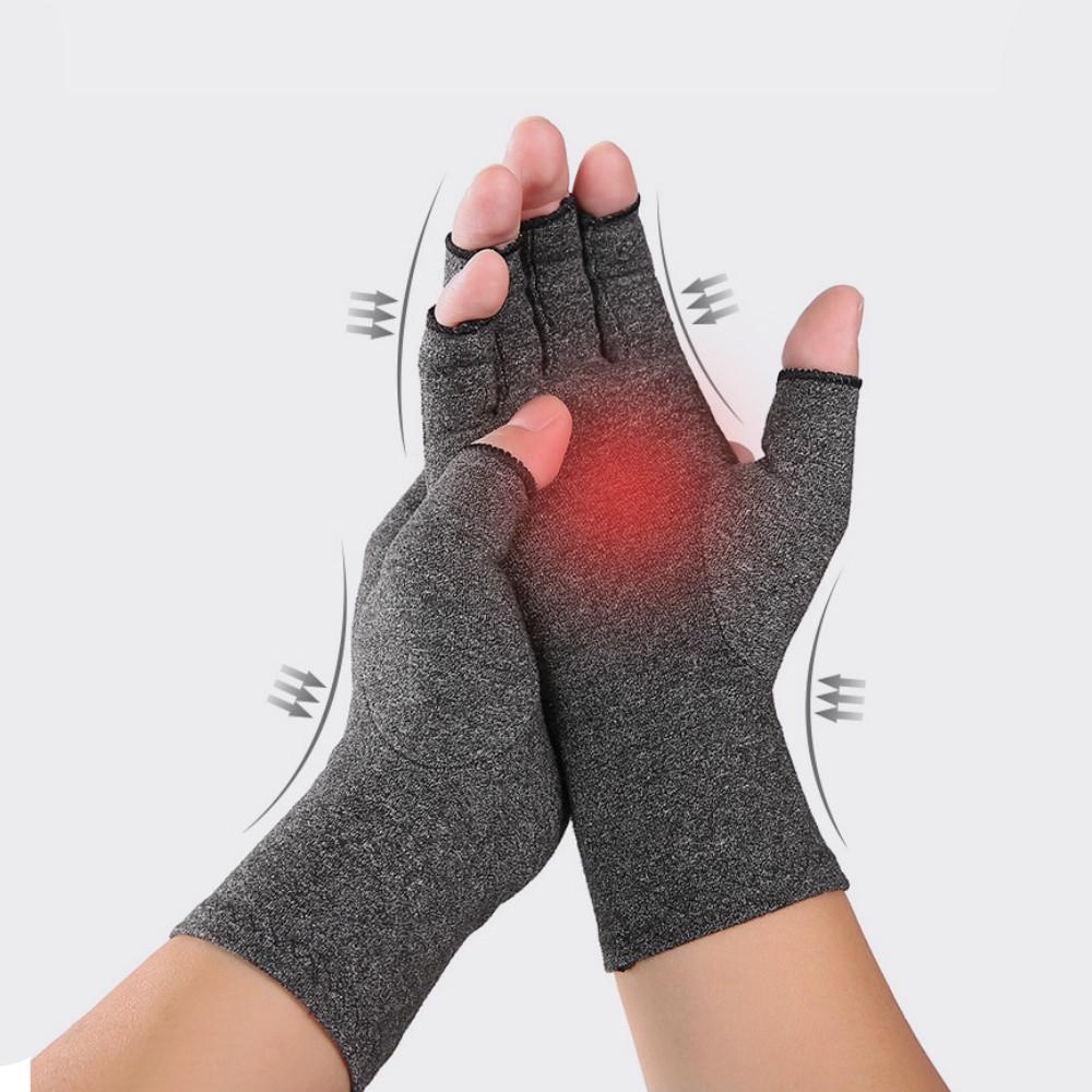 Men'S Sports Breathable Half-Fingered Gloves ASH GRAY S