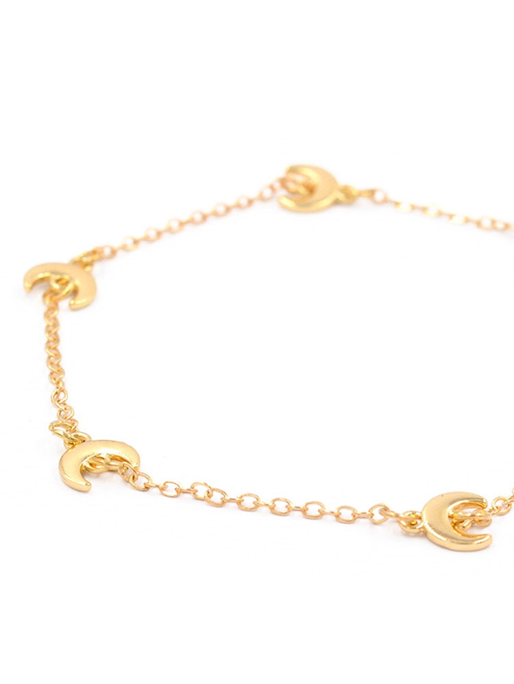 Alloy Moon Decorative Chain Bracelet  GOLD