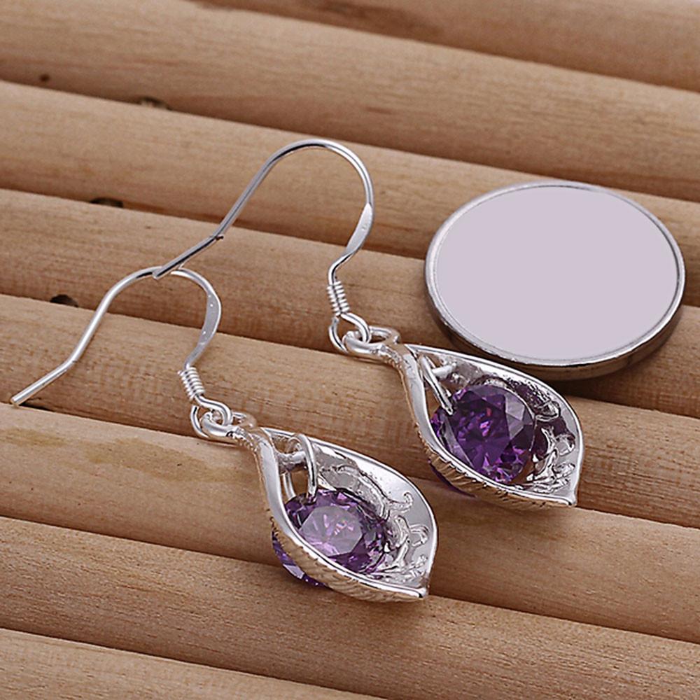 Faux Crystal Shell Drop Earrings